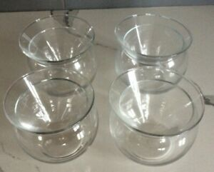Lot of 4 - Libbey Martini Chiller Shrimp Cocktail Glasses Contemporary Stemless