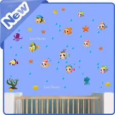 Fish Wall Stickers Animal Sea Ocean Starfish Water Nursery Kids Room Decal Art