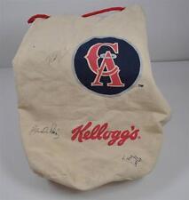 Vintage California Angels Baseball Kellogg's Canvas Drawstring Bag 3 Signatures