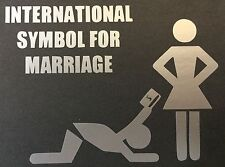 NEW SILVER INTERNATIONAL SYMBOL FOR MARRIAGE DECAL STICKER CHEVY FORD DODGE JDM