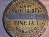 Antique Light Sweet Burley Tobacco Tin Spaulding Merrick 1 Lb Chicago