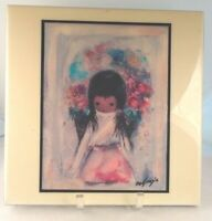 Ted DeGrazia Large Ceramic Tile Decorative Southwest Flower Girl 12x12