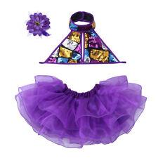 Girls Sequins Dancewear Leotard Latin Ballet Dress Tutu Outfit Fairy Costume 5-6