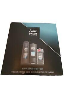Dove Men +Care Clean Comfort 3 Piece Gift Set Body Wash Shampoo Deodorant NIB