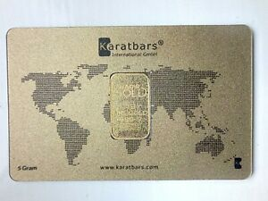 Karatbars 5g Finegold 999.9 Gold Bar 24 carat