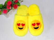 Winter Cute Emoji Cotton Slipper Women Men Warm Cartoon Home Shoes Comfy Slip On
