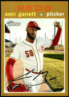 Amir Garrett 2020 Topps Heritage 5x7 Gold #448 /10 Reds