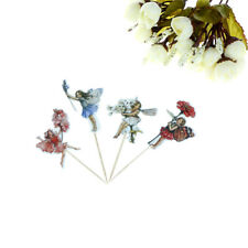 24pcs Flower Fairy Cupcake Toppers Picks for Birthday Decoration Party Cake AU