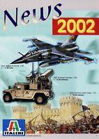 Italeri Prospekt News 2002 Modellautos Modellflugzeuge Panzer Figuren brochure