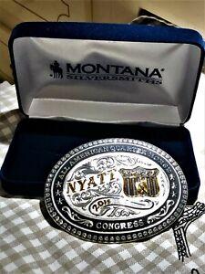 Montana Silversmiths  2015  Buckle NYATT All American Quarter Horse Congress new