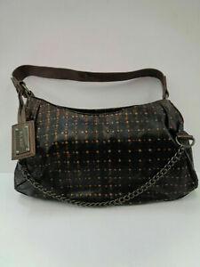 BULAGGI 42084.73 Black/Bronze Studded Shoulder Bag (LR)