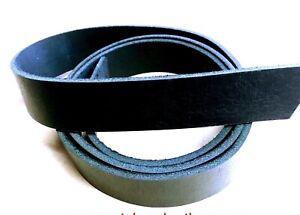 BLACK Leather Strap Belt Blank Rifle restraint remnant off cut Guitar RATS BUM