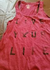American Eagle Outfitters Women's  Tank Top, size M, red Live your Life