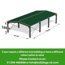 Agricultural Steel Frame Kit Building 60ft x 30ft x 12ft