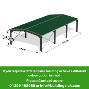 Agricultural Steel Frame Kit Building 60ft x 30ft x 12ft