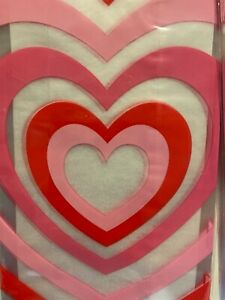 CVS 15-Count Cellophane Bags with Twist Ties - Clear Bags Hearts Valentines Day