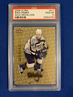 SHEA WEBER PSA 10 2006-07 FLEER ULTRA GOLD MEDALLION ROOKIE CARD #211 POP 4 !!