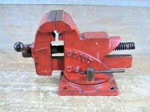 """Vintage SCOUT By WILTON 3-1/2"""" Bench Vise With Swivel Base With 4"""" Opening"""