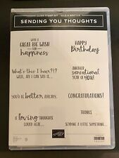 """STAMPIN' UP/SENDING YOU THOUGHTS"" Cling Stamp Set"