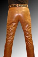 Pantalon marron en cuir pour motocyclette