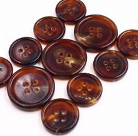 J167 Italy Lt Brown Real Horn Button Suit Jacket Blazer Coat Set Knopf Bouton