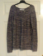 *BNWT* John Lewis Capsule Collection White Grey Cotton Cashmere Mix Jumper UK 10