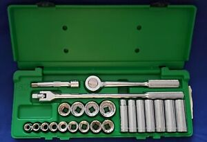 """SK PRO TOOLS 4123 Socket Wrench Set,1/2"""" Drive,12 Point, SAE, 23pcs