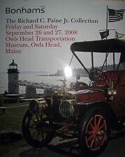 BONHAMS Paine Collection Transportation Museum Cars & Bikes CATALOG 9/26/08!