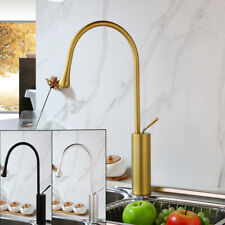 Black/Gold/Silver Kitchen Sink Spout 360° Swivel Mixer Faucet Single Handle Taps