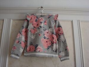 NWT Janie And Jack Girls  FLORAL RUFFLE PULLOVER Top  6