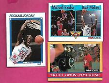 3 X CHICAGO  BULLS MICHAEL JORDAN NRMT-MT  CARD (INV# C4643)