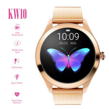 d2197dd856318a Smartwatch donna KW10 waterproof IP68 bluetooth notifiche per Android e iOS