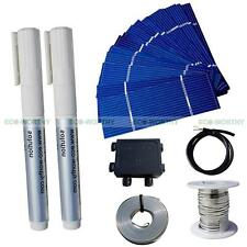 80PCS 78X26mm Mini Solar Cell & Tab Bus Wire J-box 90cm Cable for DIY 25W Panel