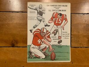 SAN FRANCISCO STATE VS  CAL LONG BRANCH COLLEGE FOOTBALL GAME PROGRAM 1967