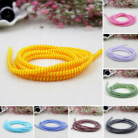 HB- Spiral USB Charge Cord Earphone Cable Protector Saver Cover Wire Winder 1.4m