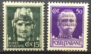 Regno 1943 base atlantica selezione di valori mnh