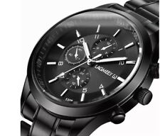 Mens Black Durable Wrist Watch 10day delivery Metal Stylish Smart