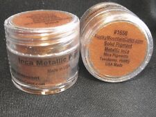 MICA~PIGMENT~TAXIDERMY~PAINT~FISH~TROUT~BASS~#1658~LOOSE POWDER~RMC~METAL~BRONZE