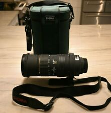 Sigma APO 50-500mm lens; 1:4-6.3 D; Nikon with carrying case, Hood and Cap