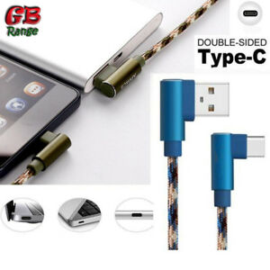 APPACS Type C Fast Charging Data Cable Copper 90° Elbow Reversible USB Android