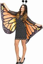 Fun World Women's Fluttery Monarch Butterfly Adult Costume M/L 10-14