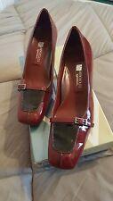 Chaussures femme vernies neuves - Aérosoles - Bordeaux & Noir - Taille 39,5