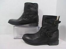 Zigi Soho Black IMRIE  Leather Buckle Fashion Ankle Boots Sz 8M EUC