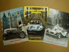 RUSKA  Buggys  3 brochures / Prospekte   ca.1980.