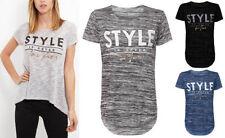 Slogan Polyester Short Sleeve Regular T-Shirts for Women