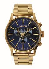 Reloj Nixon Sentry Chrono Oro-azul Sunray