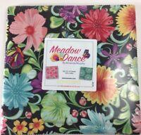 "Meadow Dance (42)10"" squares Fabric Layer Cake Pre-Cut Cotton Quilting ORIGINAL"