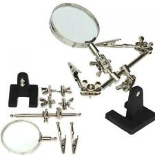 2in Helping Hand Soldering Stand Magnifier Magnifying Glass Lens Alligator Clip