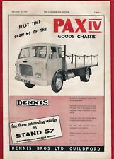 Old Magazine Advert 1960 ~ Dennis Pax IV Goods Chassis - Commercial Motor Show