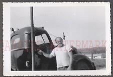 Vintage Photo Truck Driving Man w/ 1937 1938 1939 1940 International 662370